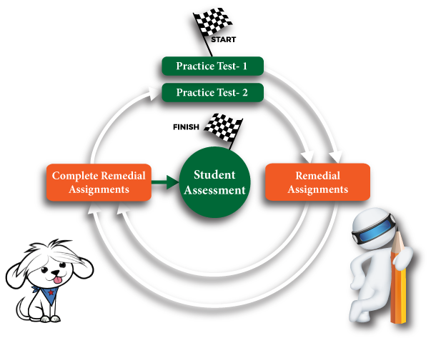AI-powered Targeted Intervention and Realistic Standardized Test Practice